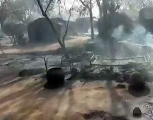 شاهد : مخيم أبو ذر في السودان بعد حرقه جراء اشتباكات قبلية في دارفور