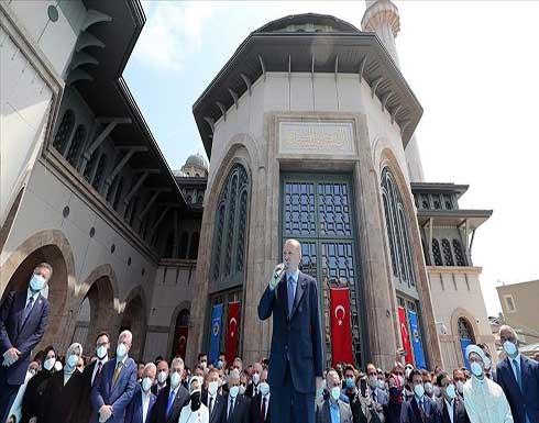 أردوغان يفتتح مسجد تقسيم وسط اسطنبول .. شاهد