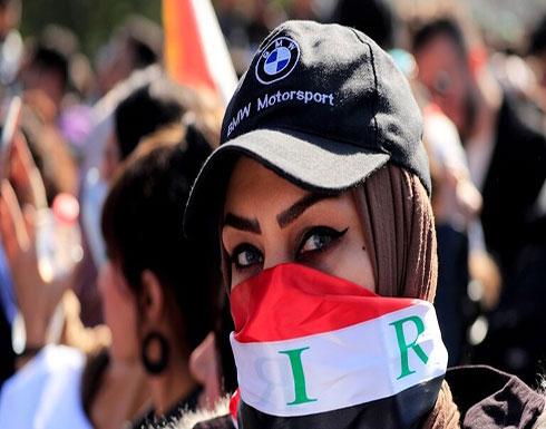 شاهد : محتجون عراقيون يبصمون بالدم متعهدين باستمرار احتجاجاتهم