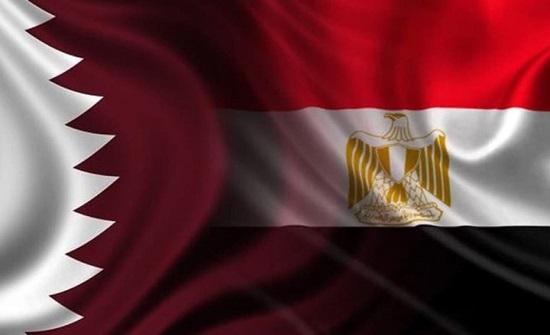 وزيرا خارجية قطر ومصر يلتقيان لأول مرة منذ 2017 (صورة)