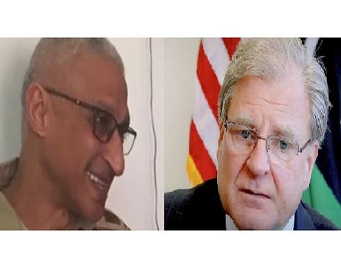 السفير الأمريكي بليبيا يلتقي مدير المخابرات العسكرية المصرية