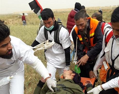 """غزة.. 99 اصابة في """"مليونية الارض"""""""