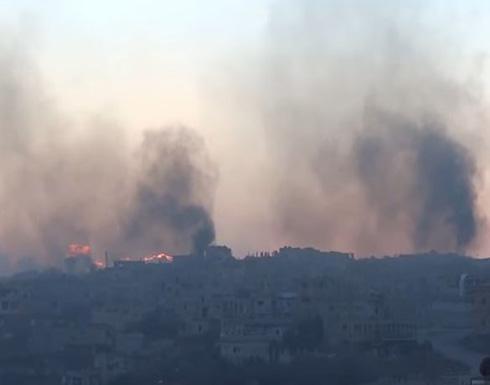 قصف واشتباكات وحرائق في درعا