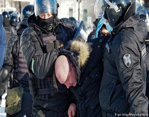 """اعتقال الاف الروس خلال تظاهرات مؤيدة لـ""""نافالني"""" .. بالفيديو"""