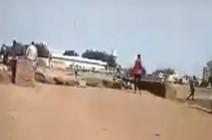 شاهد : لحظة بداية إطلاق الرصاص في مدينة السوكي اليوم من قبل قوات الدعم السريع