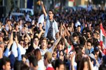 شاهد : طلاب لبنان يواصلون احتجاجاتهم في مناطق عدة في إطار الحراك الشعبي