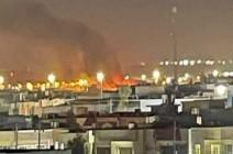 شاهد : لحظة القصف الذي استهدف مطار أربيل الدولي بكردستان العراق