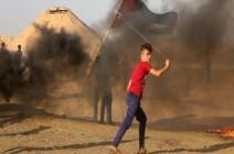 """غزة: 74 مصابا في جمعة """"مخيّمات لبنان"""""""