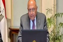 شكري : مصر ترفض وتستنكر الممارسات الإسرائيلية الغاشمة بشكل تام