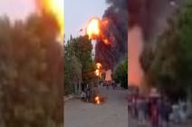 مصر : حريق في مصنع للمواد الكيماوية بمدينة السادات بالمنوفية .. بالفيديو