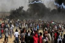 """إصابات بقمع قوات الاحتلال متظاهري """"العودة"""" شرقي القطاع"""