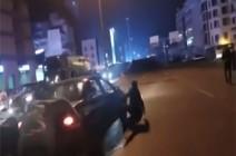 شاهد : سائق سيارة دهس متظاهرا على جسر الرينغ وفر في لبنان