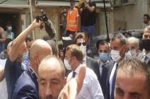 """لبنانيون يهتفون لماكرون""""ثورة، ثورة، ساعدونا""""  - (فيديوهات)"""