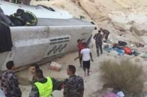 فيديو : شاهد حادث حافلة المعتمرين على طريق الأغوار - الطفيلة