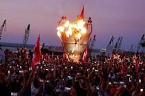 """مواجهات بمظاهرات لبنانية أحيت ذكرى """"ثورة 17 أكتوبر"""" .. بالفيديو"""