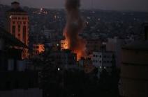 بالفيديو : مقاتلات إسرائيلية تشن سلسلة غارات جديدة على غزة