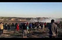 بالفيديو : إصابة 46 متظاهرا فلسطينيا برصاص الجيش الإسرائيلي شرقي غزة