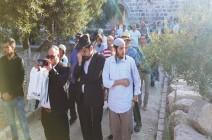 """مستوطنون يقتحمون الأقصى احتفالا بـ""""الأعياد اليهودية"""" (شاهد)"""