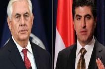 تيلرسون لبارزاني: حل مشاكل العراق في الدستور