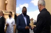 شاهد : وزير الدفاع الأمريكي يزور قاعدة عسكرية إسرائيلية