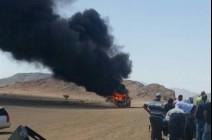 بالصور : عناية الله و شجاعة سائق أردني تحول دون إصابة معتمرين بحريق حافلة بالسعودية