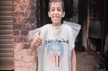 بعد قميص ميسي.. طفل مصري يرتدي كيسا حباً بمحمد صلاح