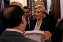 """""""الحجاب"""" يلغي لقاء المرشحة الفرنسية """"لوبان"""" بمفتي لبنان"""