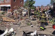 انفجار قوي في بالتيمور الأمريكية يسوي منازل بالأرض .. بالفيديو