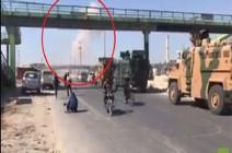 شاهد : .. طيران الجيش السوري يقصف رتلا تركيا قادم الى خان شيخون!