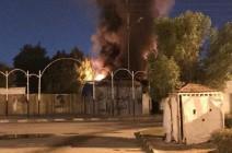 بالفيديو : متظاهرون يحرقون مقرا لميليشيا حزب الله العراقي بالكامل