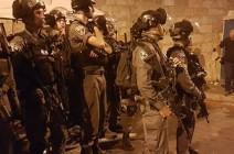 مواجهات بين قوات الاحتلال الإسرائيلي والمرابطين عند باب الأسباط في القدس
