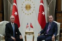 بدء اجتماع مغلق بين أردوغان وبنس في أنقرة