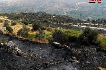 حرائق ضخمة بمناطق نظام الأسد والخوذ البيضاء تعرض المساعدة