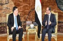 السيسي خلال لقائه السراج: الاتفاق السياسي حجر زاوية لعودة الاستقرار إلى ليبيا