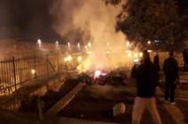 بالفيديو : حريق بمنطقة المصلى المرواني في المسجد  الأقصى