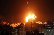 طيران الاحتلال يشن غارات جوية ويدمر عدة مواقع في قطاع غزة