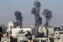 الاحتلال يقصف هدفا في رفح جنوب قطاع غزة(صورة)