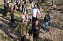 إصابة 20 متظاهرا برصاص الجيش الإسرائيلي شمالي غزة