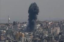 مقاتلات إسرائيلية تدمر بناية سكنية من 11 طابقا في غزة