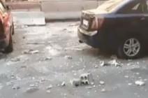 شاهد ..التفجير الانتحاري  قرب مركز قيادة شرطة دمشق