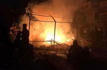 شاهد : قوات الشغب العراقي تحرق خيم المعتصمين في ساحة التحرير
