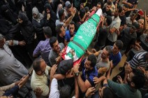 صور : غزة.. تشييع جثمان فلسطيني استشهد برصاص الجيش الإسرائيلي