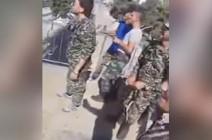 شاهد بالفيديو: جنود بشار الاْسد سكارى على حواجز دمشق