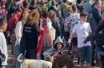 مظاهرة ضد الاستيطان وطرد السكان في حي الشيخ جراح بالقدس .. بالفيديو