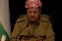 شاهد .. مسعود بارزاني: الاستفتاء لا يعني ترسيم الحدود