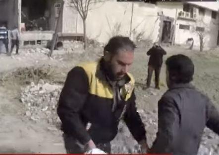 شاهد ...عشرات القتلى والمصابين المدنيين في قصف روسي على الغوطة