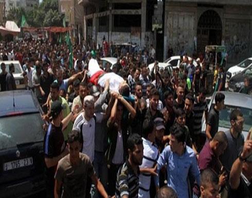 جماهير غزة تُشيّع جثمان الشهيد محمد بدوان