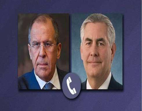 لافروف يبحث باتصال هاتفي مع تيلرسون البرنامج النووي الإيراني