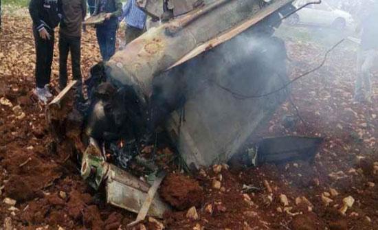 شاهد..سقوط حطام صاروخ في بلدة ملكا بمحافظة اربد