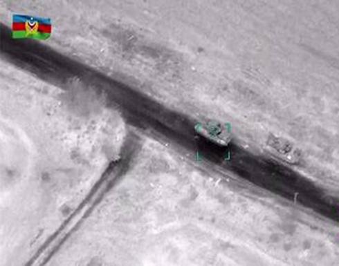 شاهد : الدفاع الأذربيجانية تقصف مواقع الجيش الأرمني في قره باغ